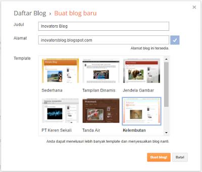 Mendaftar di blogger.com [blogspot]