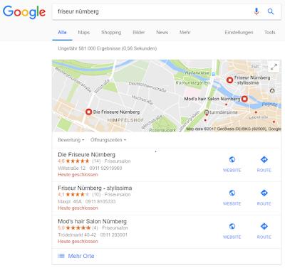 Google My Business in der Desktop-Ansicht