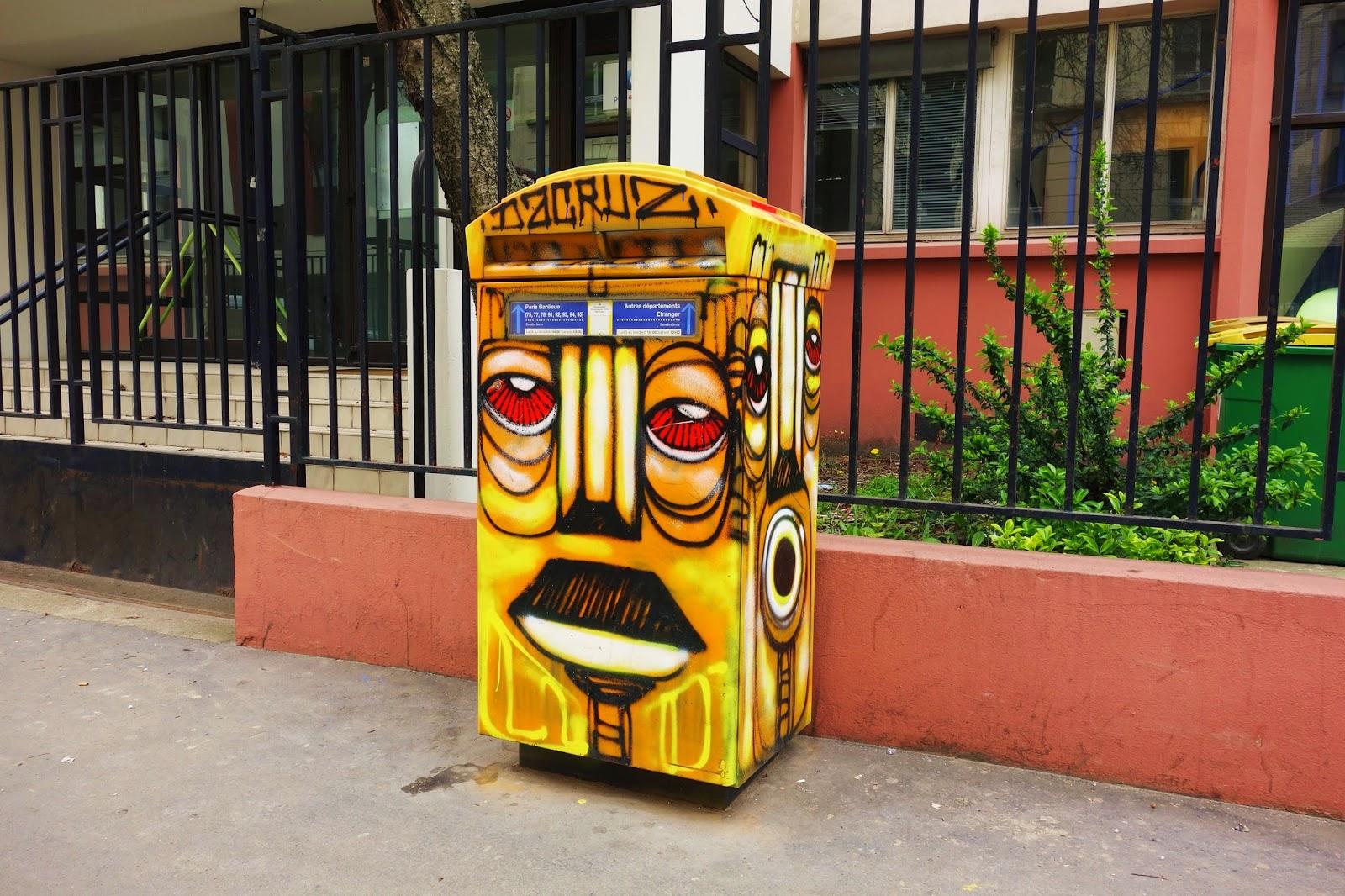Sunday Street Art Dacruz Boite Aux Lettres Rue De L Ourcq