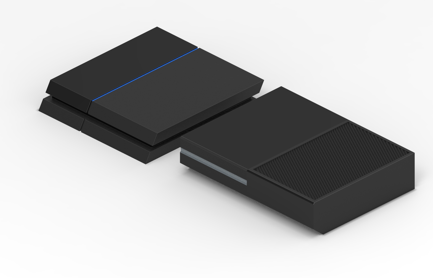 PS4 vs  Xbox One Console Size Comparison - GamingReality