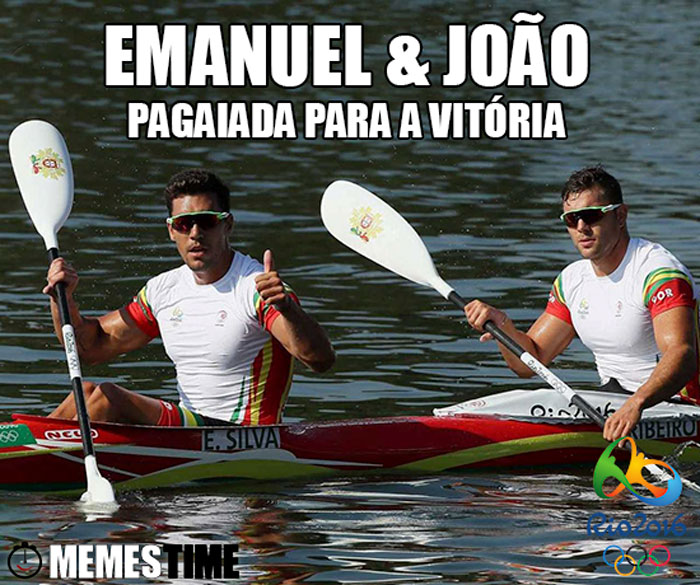 Memes Time Emanuel Silva e João Ribeiro no Rio 2016 em K2 1000 metros – Pagaiada para a Vitória