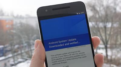 Metode pengunduhan firmware Android OTA