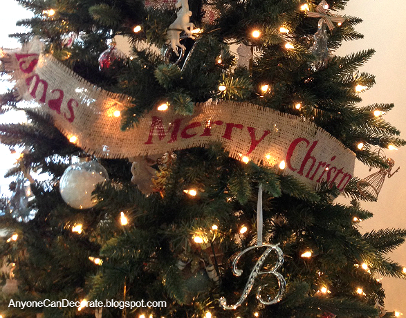 Best Anyone Can Decorate: DIY Burlap Christmas Garland Tree Wrap OI98