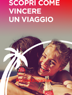 Logo Vinci 140 viaggi in Italia e Europa con Coca-Cola