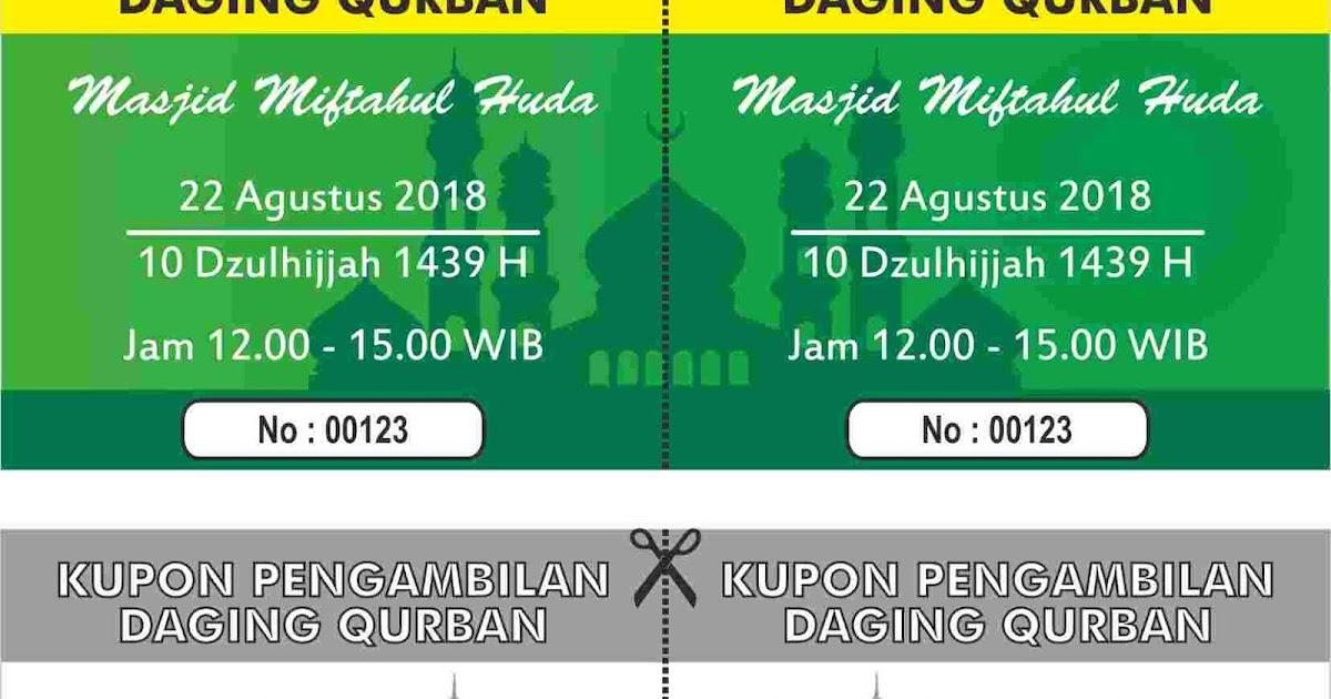 Contoh Desain Kupon Qurban 2018 Format Cdr - Mamank Dzgn