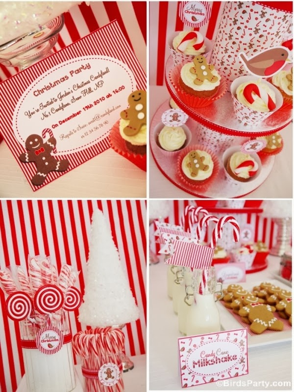 Christmas Candyland Candy Party Ideas - BirdsParty.com