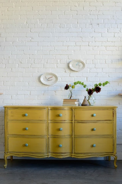 milk paint, yellow, dresser makeover, diy, ofmp, old fashioned milk paint