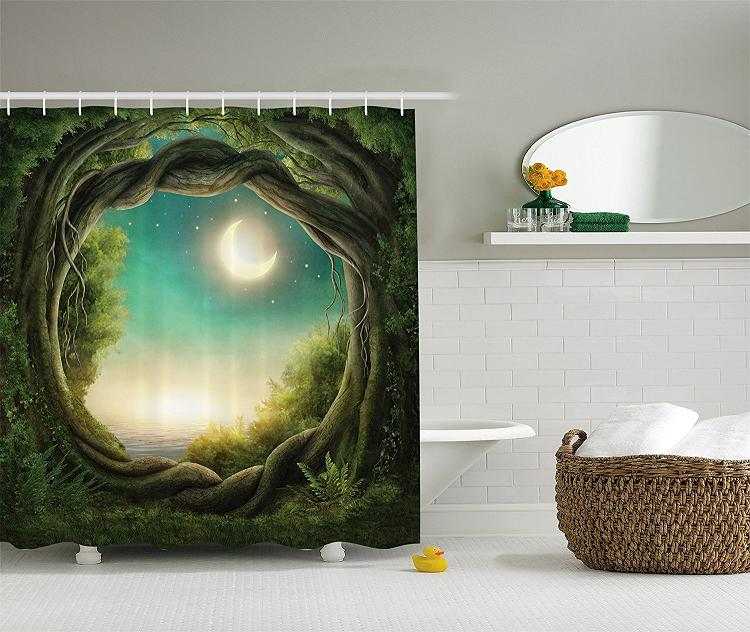 Shower Curtain And Matching Wall Decor
