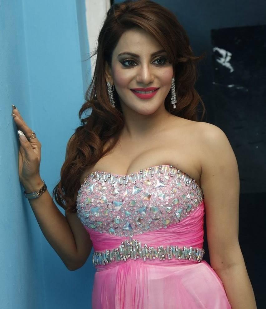 Tollywood Actress Long Hair Stills In Pink Dress Preeti Soni