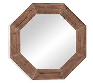 Octagon Wood Shaped Mirror