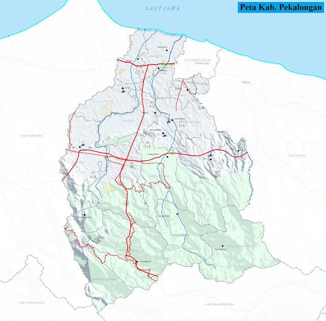 Peta Kabupaten Pekalongan HD