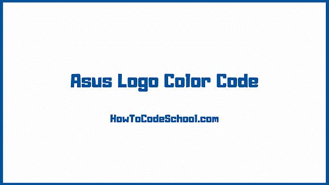 Asus Logo Color Code