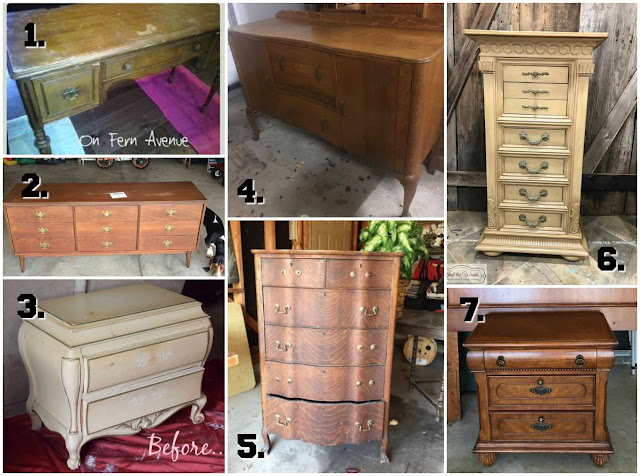makeovers by the crafty girls and furniture friends for the month of January