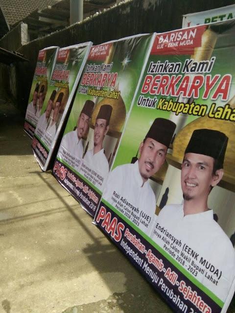 Rozi Adiansyah (UJE) dan Endriansyah (Eenk Muda) tetap konsisten di jalur Independen dalam Pilkada Kabupaten Lahat 2018