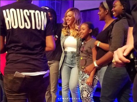 Beyonce And BeyGOOD Team Visits Hurricane Harvey Survivers In Houston