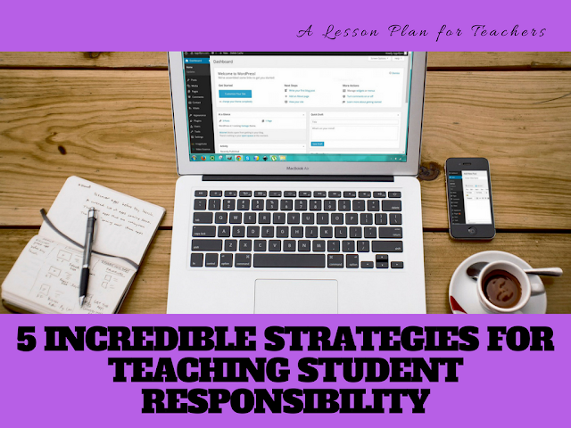 Start off the new school year with great strategies under your belt for teaching student responsibility. Helping your middle or high school students learn about responsibility and accountability can help them better prepare for their careers or their futures. #teaching #responsibility #lessons #lessonplans #tpt #students #teachers