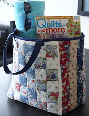 Quilt Inspiration: Free pattern day: Tote bags ! : quilt bag patterns - Adamdwight.com