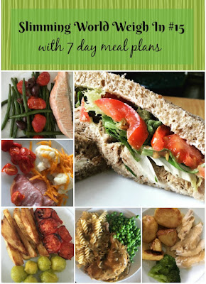 Slimming-world-weigh-in-number-15-with-7-day-meal-plans-text-on-green-background-and-images-of-plated-meals