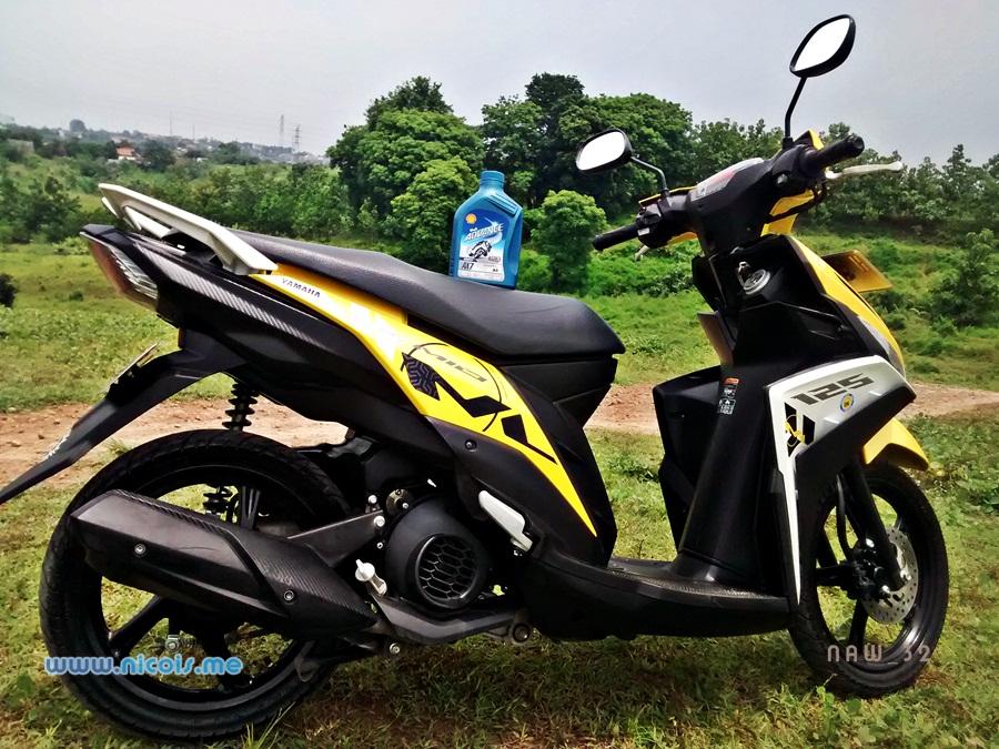 Review Oli Shell Advance AX7 Scooter Di Yamaha Mio M3
