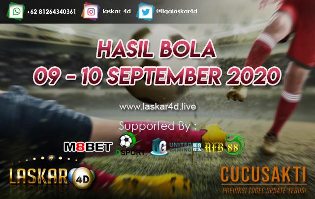 HASIL BOLA JITU TANGGAL 09 - 10 SEPTEMBER 2020
