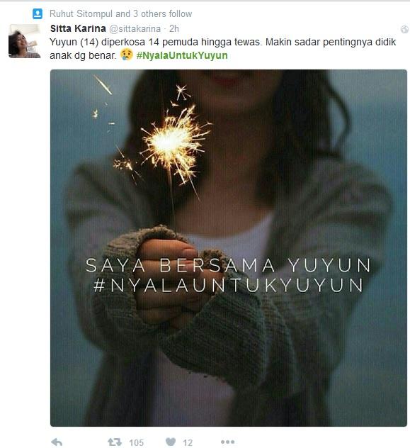Yuyun, #NyalaUntukYuyun
