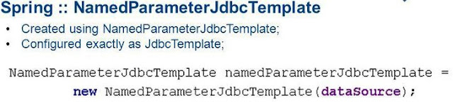 NamedParameterJdbcTemplate in Spring