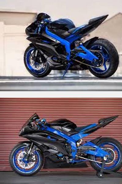 Gambar modif r15 merah hitam & warna biru