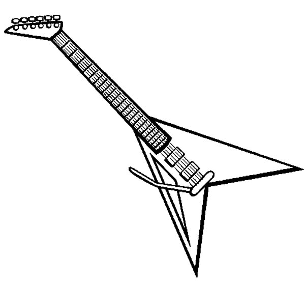 Gambar Mewarnai Gitar - 10