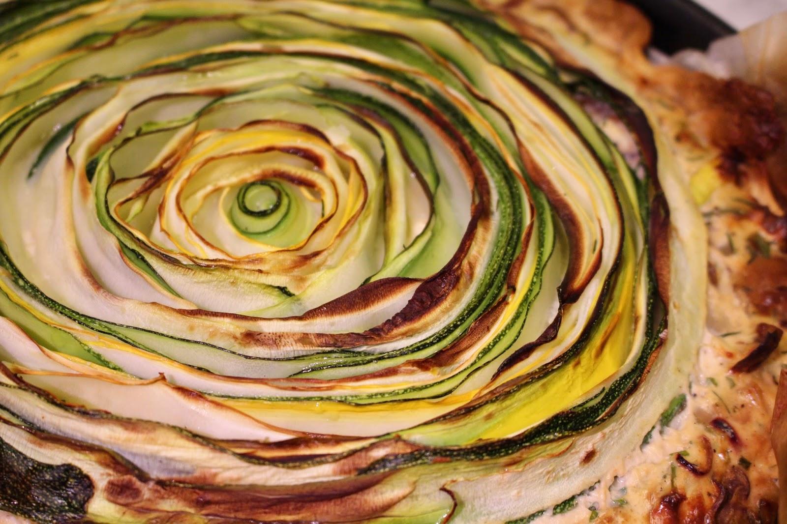 Zucchini ricotta quiche