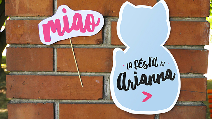 cartelli di benvenuto festa gatti