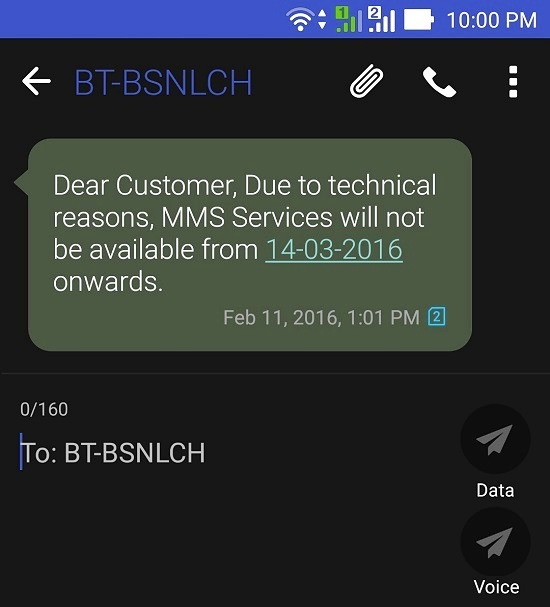BSNL to shutdown Multimedia Messaging Service (MMS) from 14th March 2016 on wards