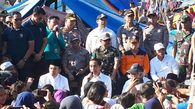 bencana, jokowi, lombok