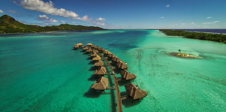 He Flew His Drone Over Bora Bora And Made The Coolest Video Ever.