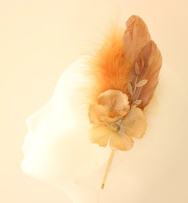 OI 1617 - Coleccion Flor - Cobre Dorado- Diadema Tocado