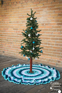 Beautifully Textured Christmas Tree Skirt
