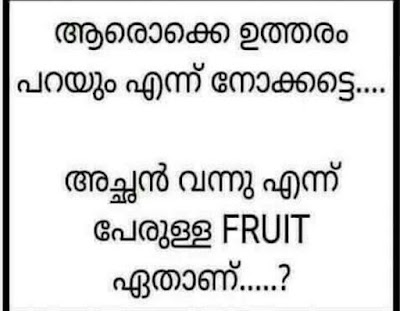 Achan Vannu Ennu Perulla Fruit Ethanu