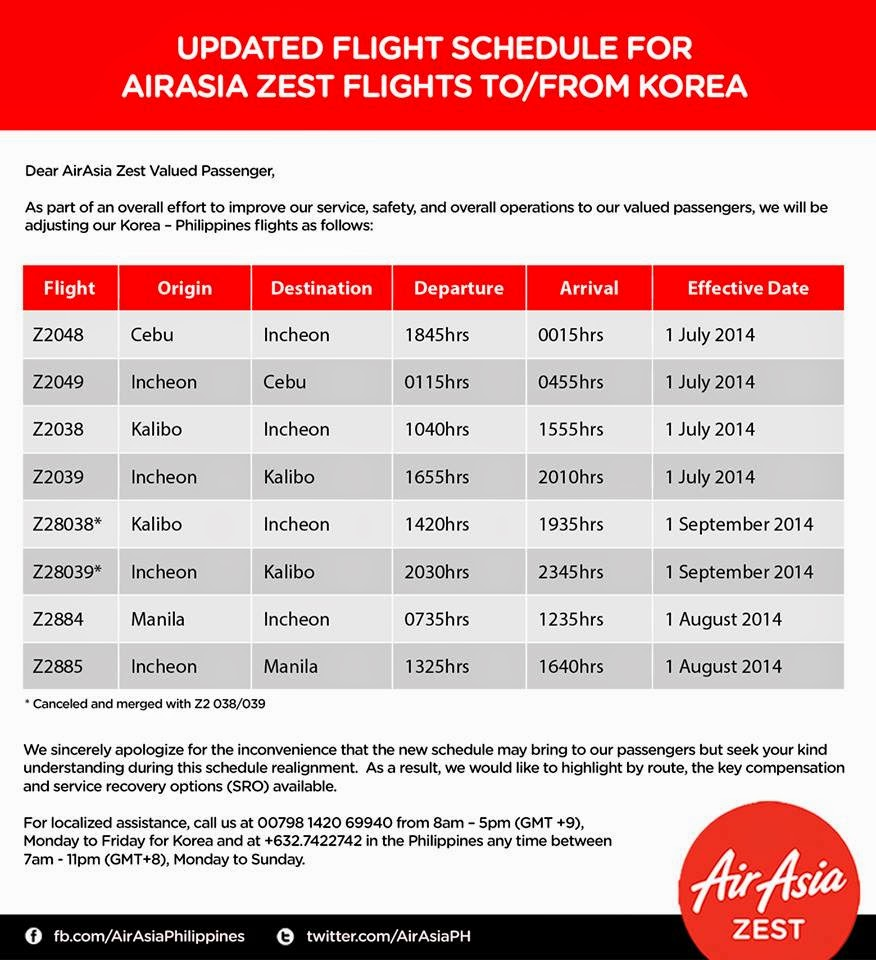 AirAsia Zest realigns Philippines-Korea routes - Aviation
