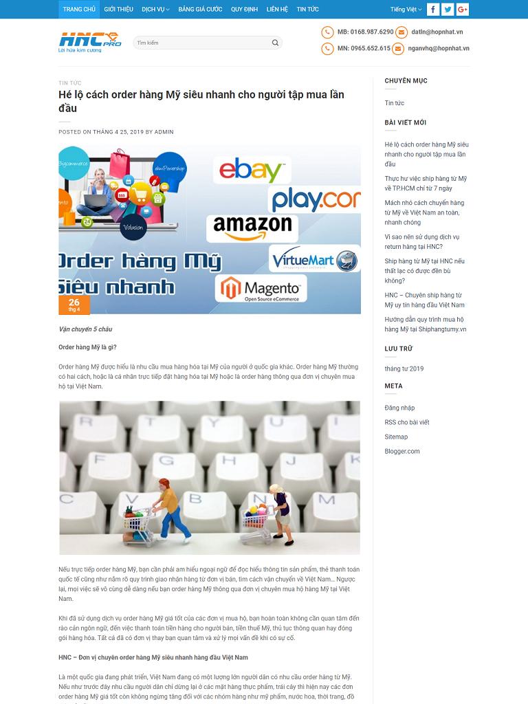 Landing Page công ty chuyển phát, ship hàng
