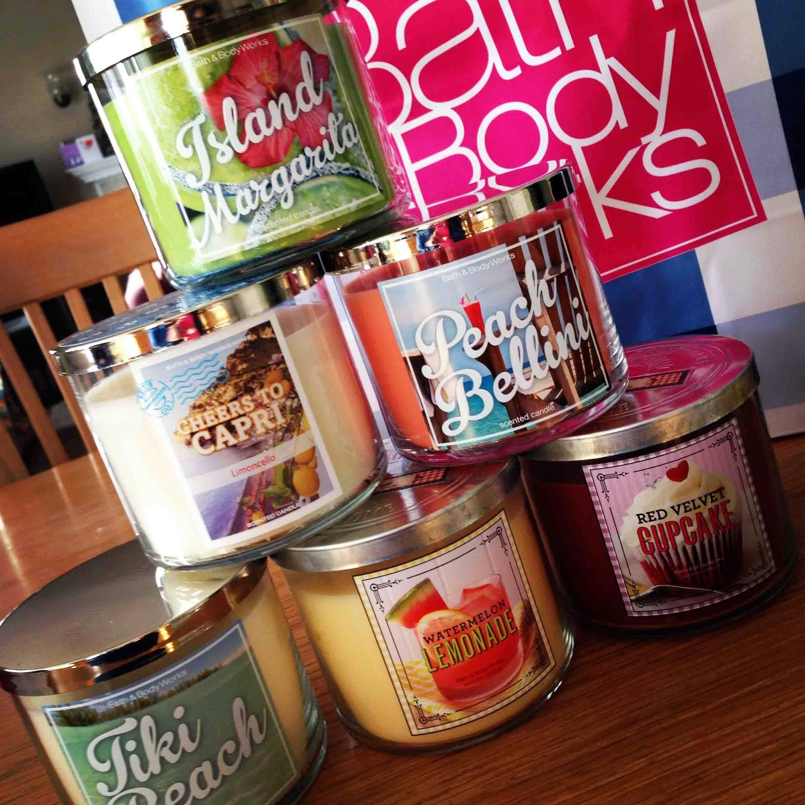 katie 39 s nesting spot bath and body works candle haul. Black Bedroom Furniture Sets. Home Design Ideas