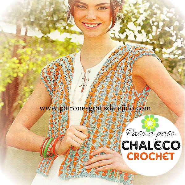 Chaleco Fácil Tejido con Ganchillo / Paso a paso | Crochet y Dos ...