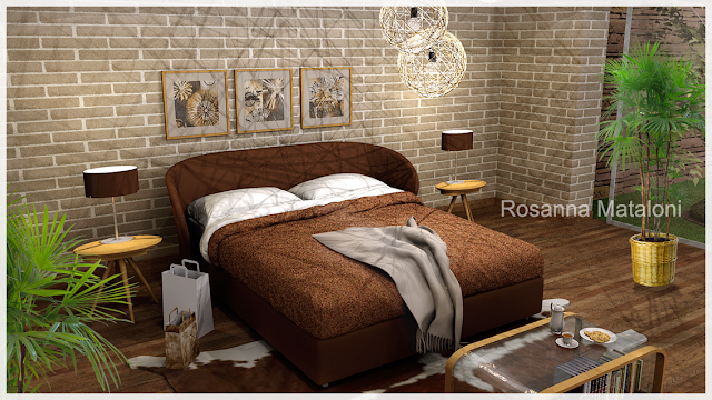 free sketchup model double bed design #8-podium rebder