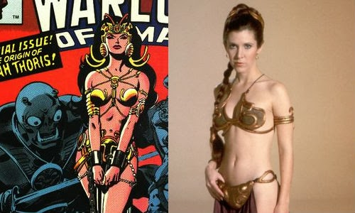 leia and dejah gold bikini inspiration