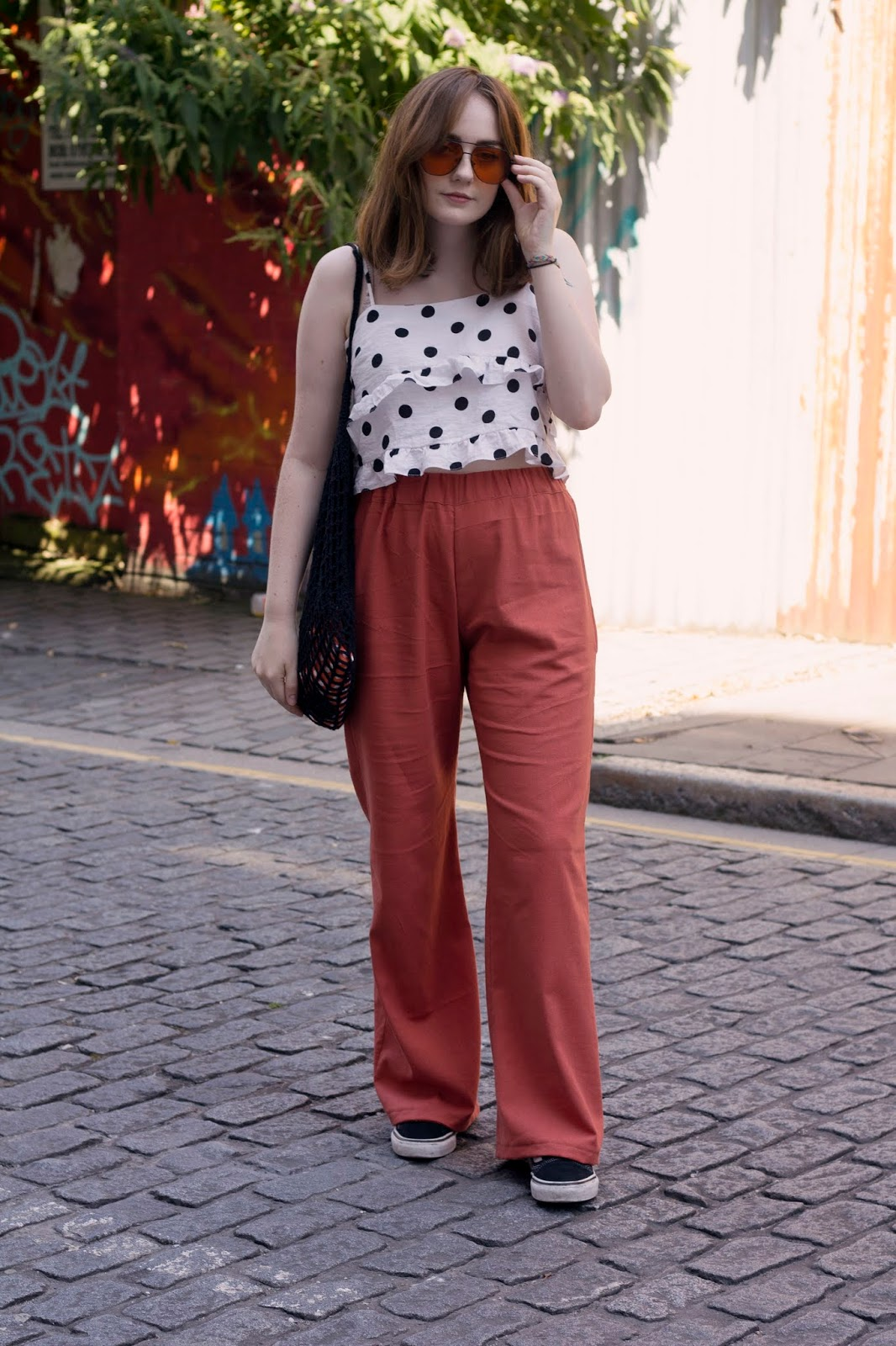 seventies inspired summer outfit uk style blogger