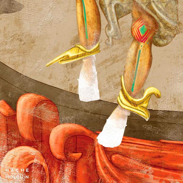 """Ilustración. Mito """"Cumpanamá, el pájaro carpintero y la canoa"""""""