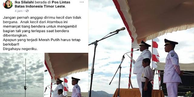 Viral! Menpora Undang Pelajar SMP Yang Panjat Tiang Bendera ke Jakarta