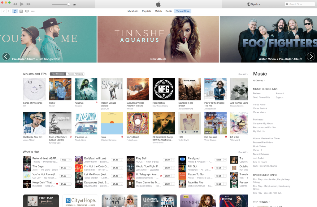 New iTunes 12 Store