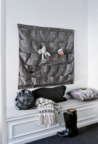 Space Saving Ideas For Home - Grey Wally Wall Organizer