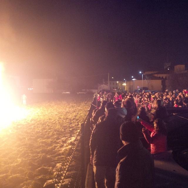 The burning of the effigy of Befana