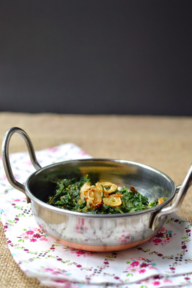 Nepali Curried Spinach (Saag)