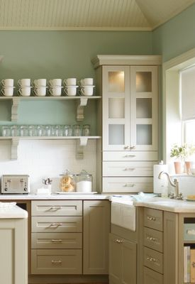 Lovely Farmhouse Style Blue and White Kitchen Decor Inspiration Wall Color u Benjamin Moore Palladian Blue